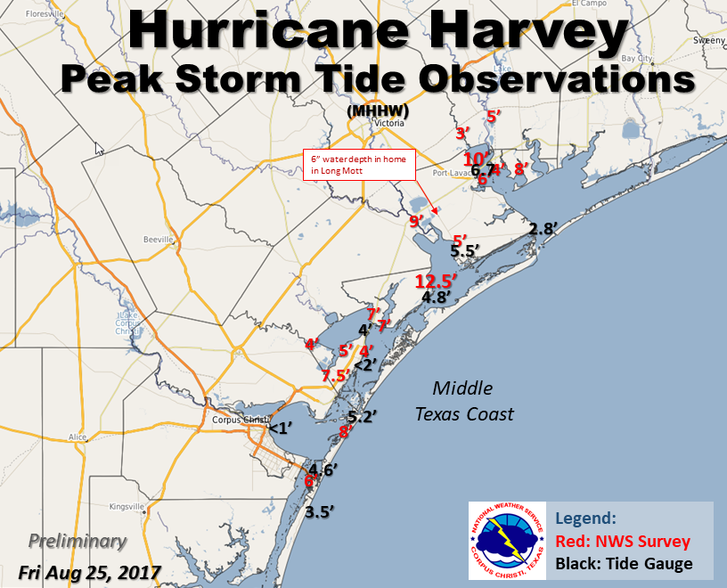 Preliminary Storm Surge Map