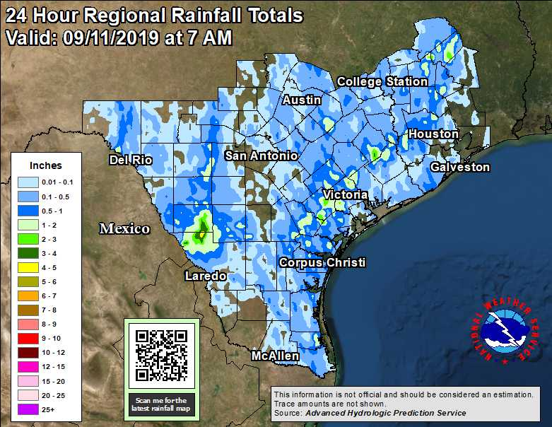 Map Of Texas Weather.Observed Texas Regional And State Rainfall 24 Hour 48