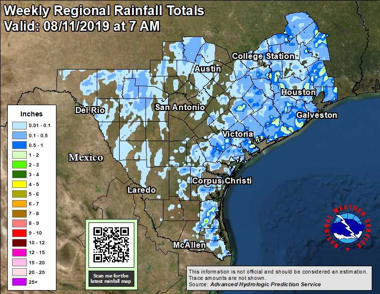 Observed Texas Regional and State Rainfall - 24-hour, 48