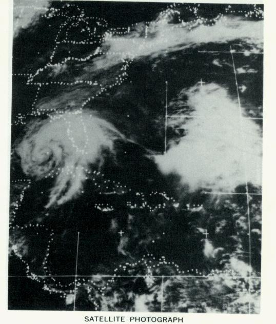 Hurricane Agnes, Satellite Picture