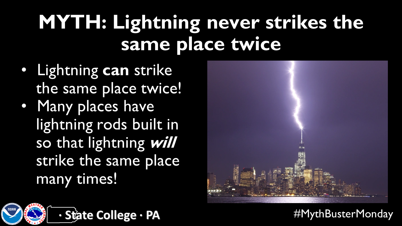 Lightning CAN strike the same place twice