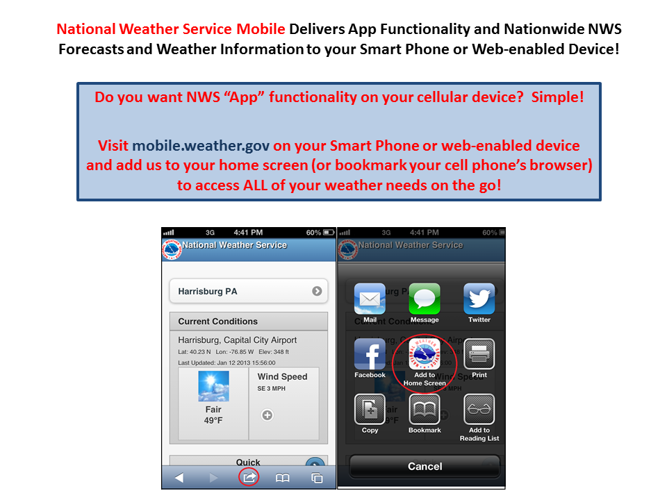 NWS Delivers Mobile App Functionality to your Web-enabled or