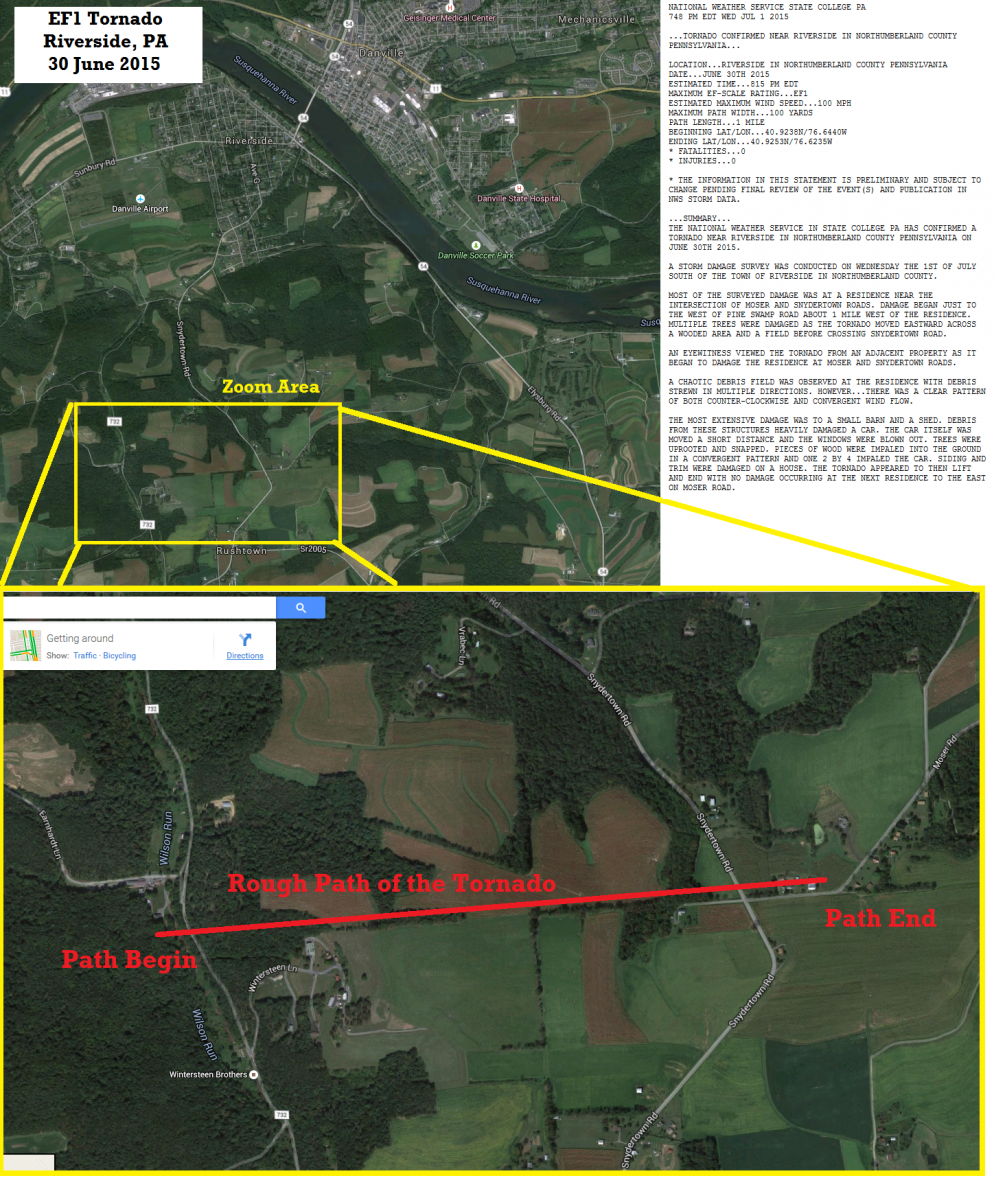 EF1 Tornado in Riverside, PA on June 30th, 2015 on cumberland county pa map, red land pa map, warrior run pa map, alleghany county pa map, perry county pa map, northumberland pa arial, northumberland united kingdom map, montgomery county pa map, centre county pa map, schuylkill river pa map, hanover county pa map, oley valley pa map, schuylkill county pa map, dauphin county pa map, snyder county pa map, northumberland england map, shamokin pa map, pa tax map, columbia county pa map, bucks co pa map,