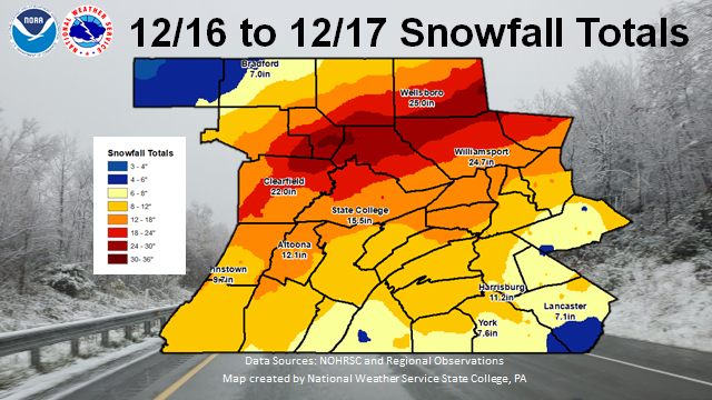 Snowfall of Dec 16-17 2020