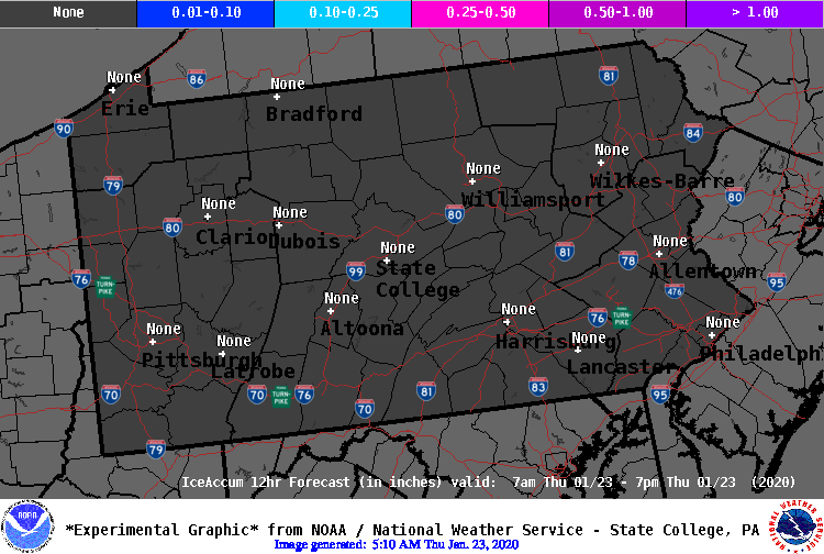 12 Hour IceAccum Forecast - Period 1