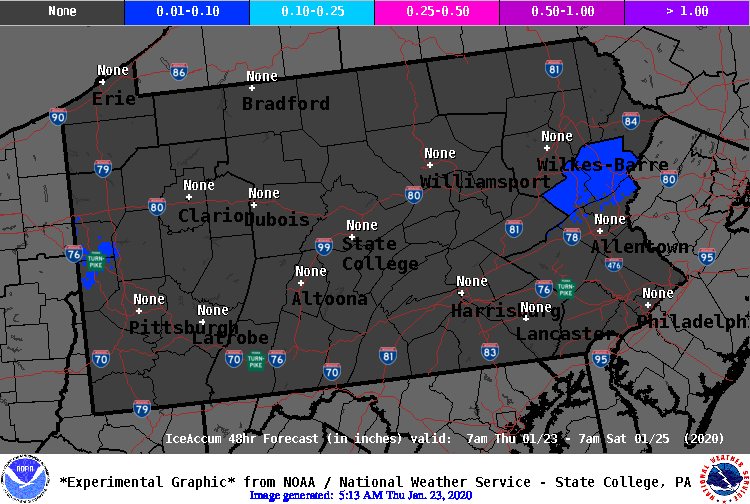 48 Hour IceAccum Forecast