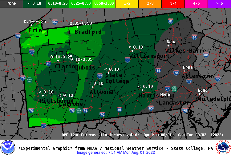 12 Hour QPF Forecast - Period 3