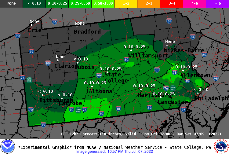 12 Hour QPF Forecast - Period 4