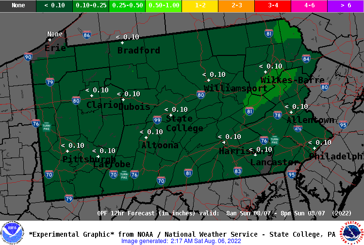 12 Hour QPF Forecast - Period 5