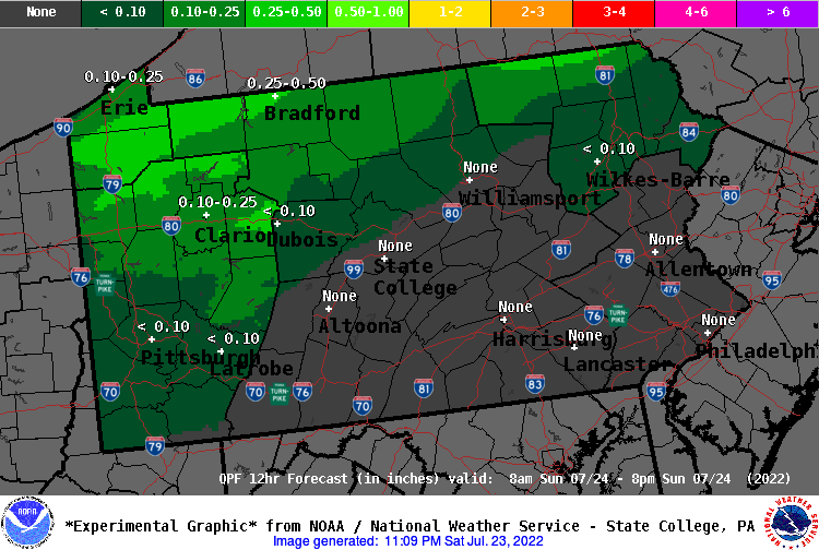12 Hour QPF Forecast - Period 6