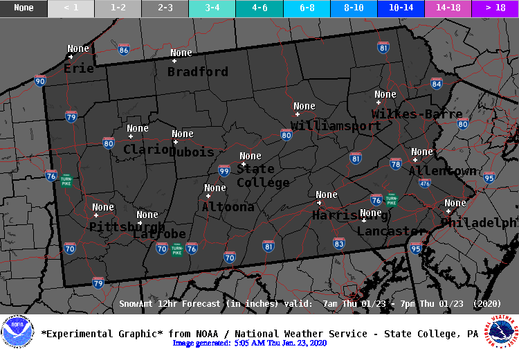 12 Hour Snow Forecast - Period 1