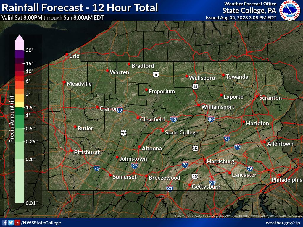 12 to 24 hour QPF forecast