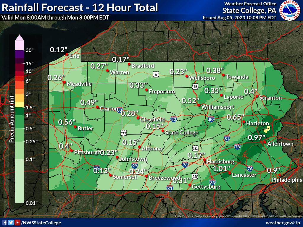 36 to 48 hour QPF forecast