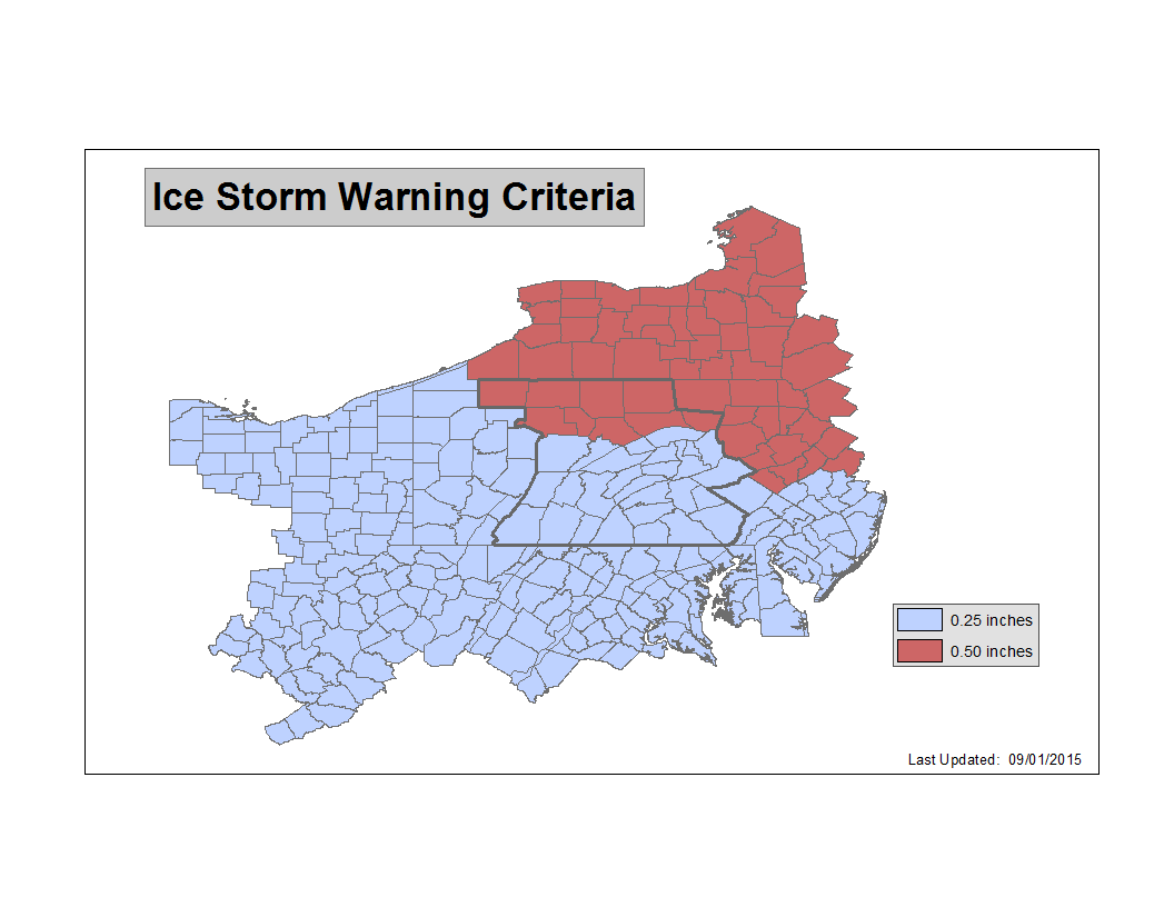 Definitions Thresholds Criteria For Warnings Watches And Advisories - Us severe weather alerts map