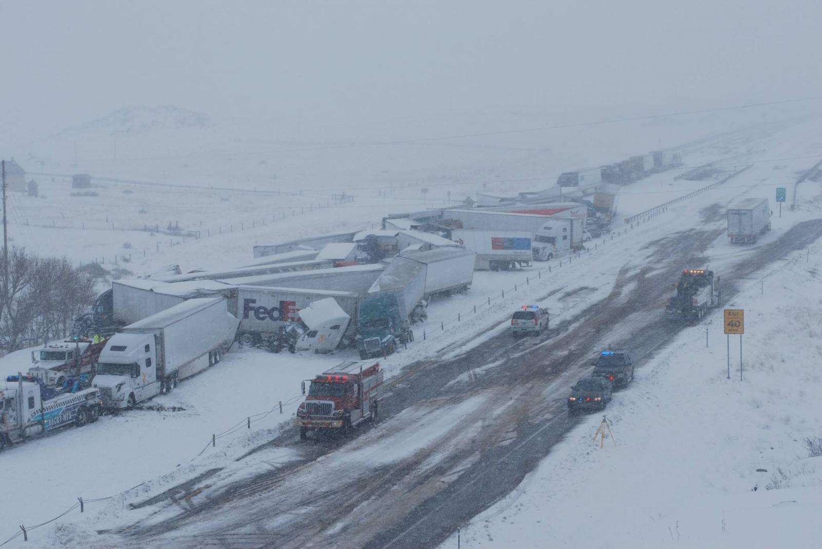 Arial View of I80 Pileup