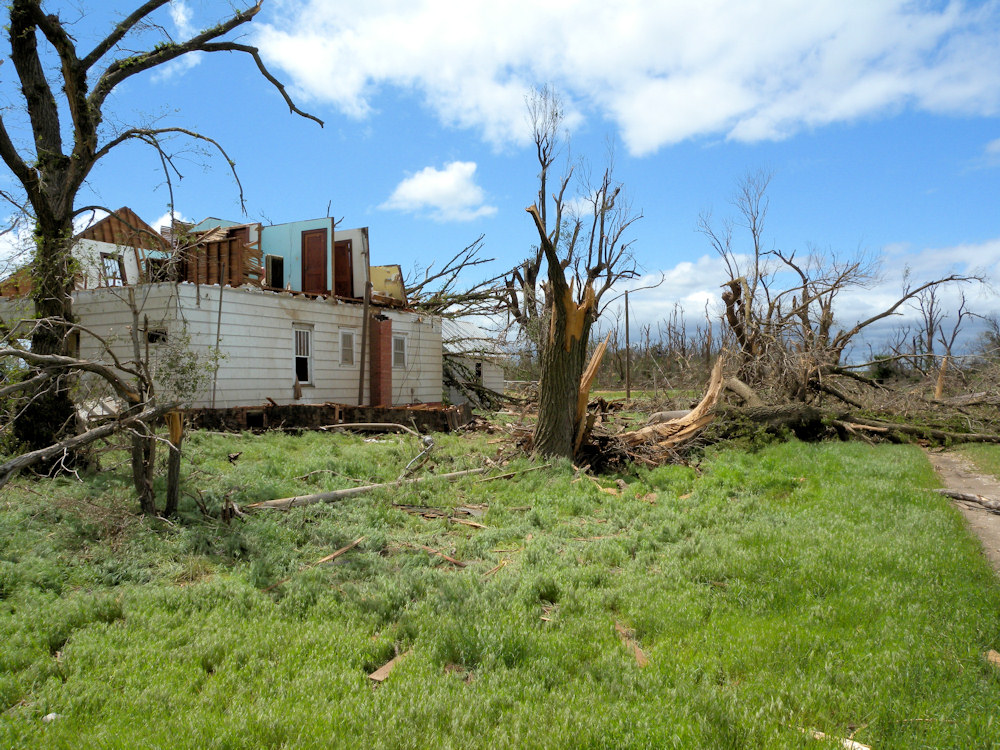 House damaged in Edwards county
