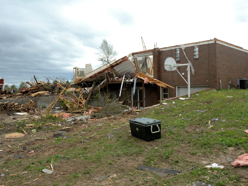 The backside of the house north of St. John in Stafford county