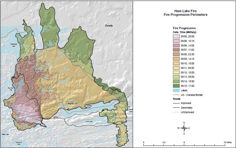 Bwca Fire Map.Ham Lake Fire Of 2007