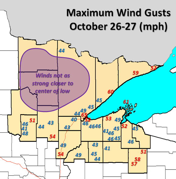 Wind Gust Map