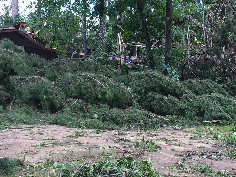 Photo of damage near Deerwood, MN