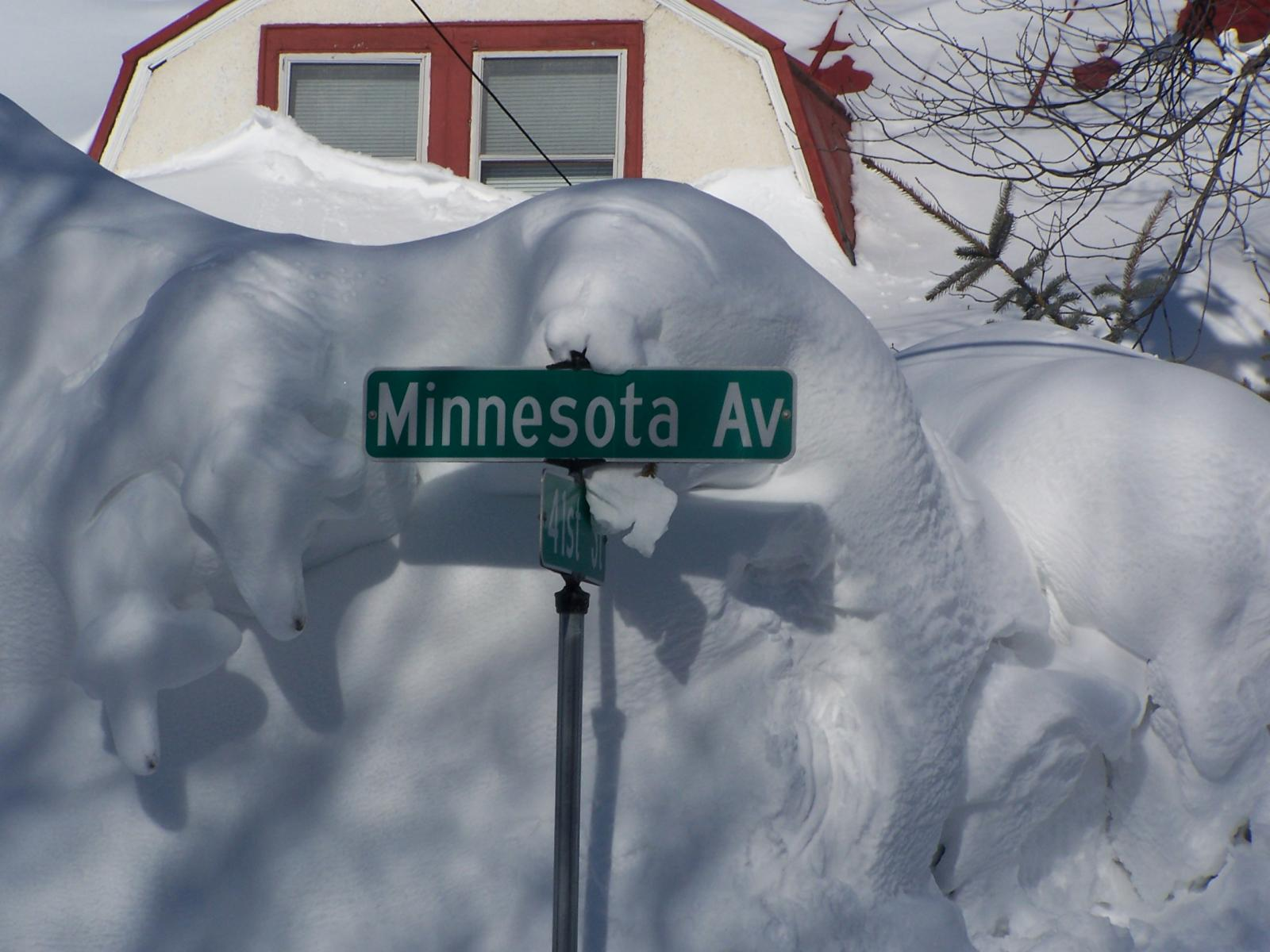 Image result for High drifts of snow and ice in Minnesota