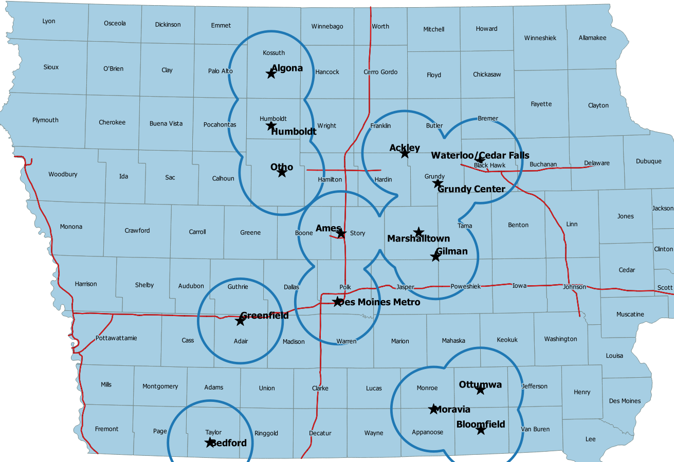 Image of NWS Des Moines DMR Repeaters