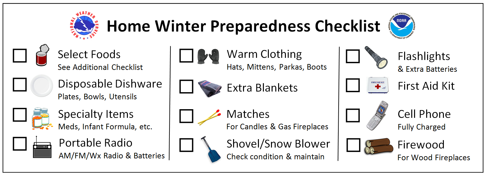 Home Winter Preparedness Checklist