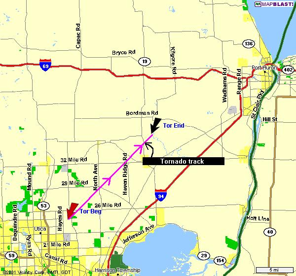 Bloomfield Michigan Map.March 20th Marks 25th Anniversary Of West Bloomfield F4 Tornado