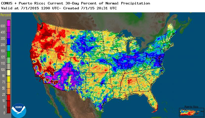 June Precip Percent Of Normal