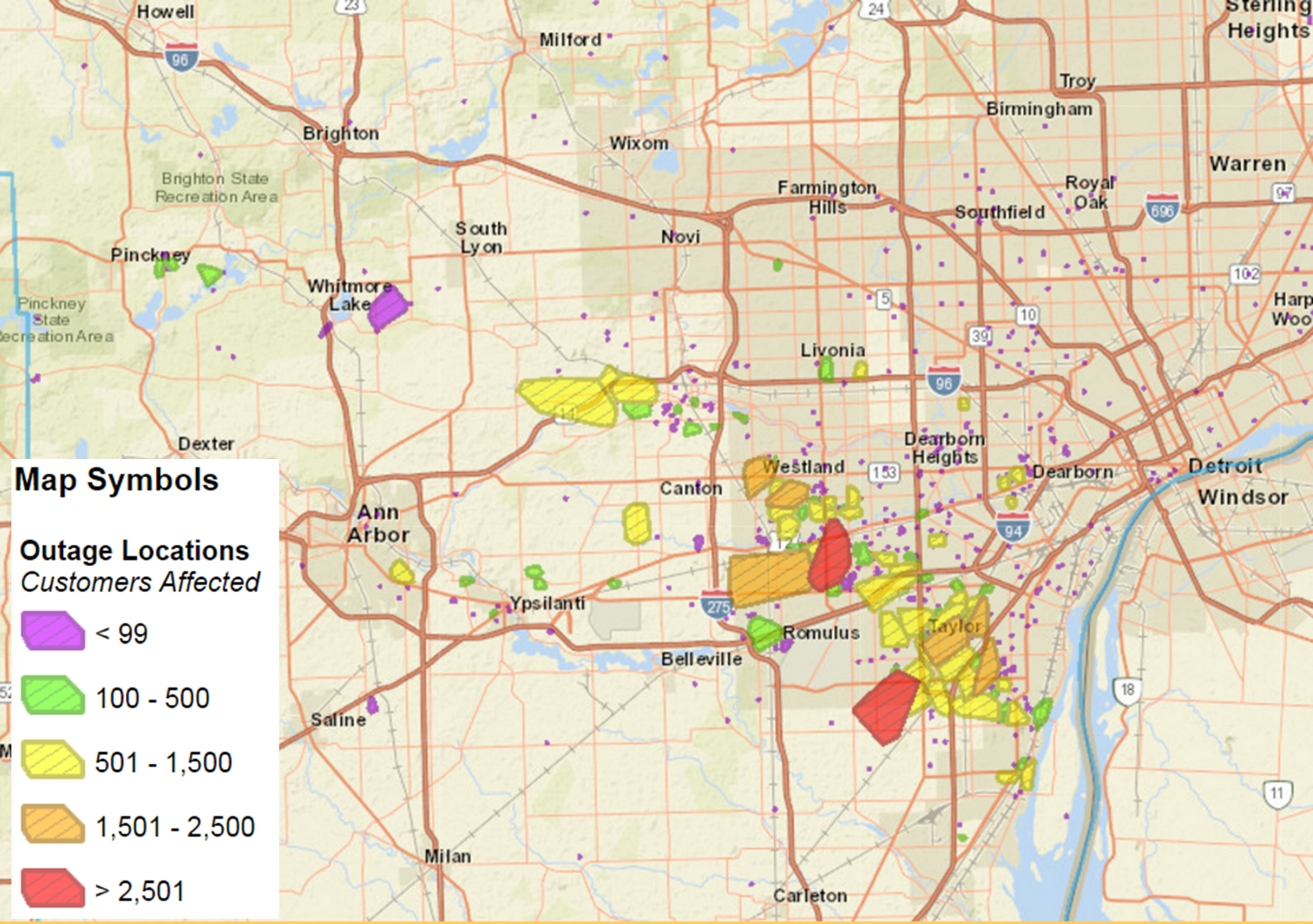 Dte Outage Map Bi Double You