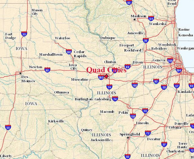 map of region