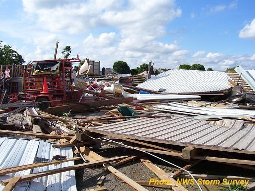 Grandview Fruitland Muscatine Bellevue Tornadoes June 1 2007