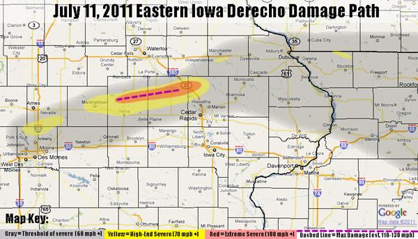 July 11 2011 Derecho In East Central Iowa