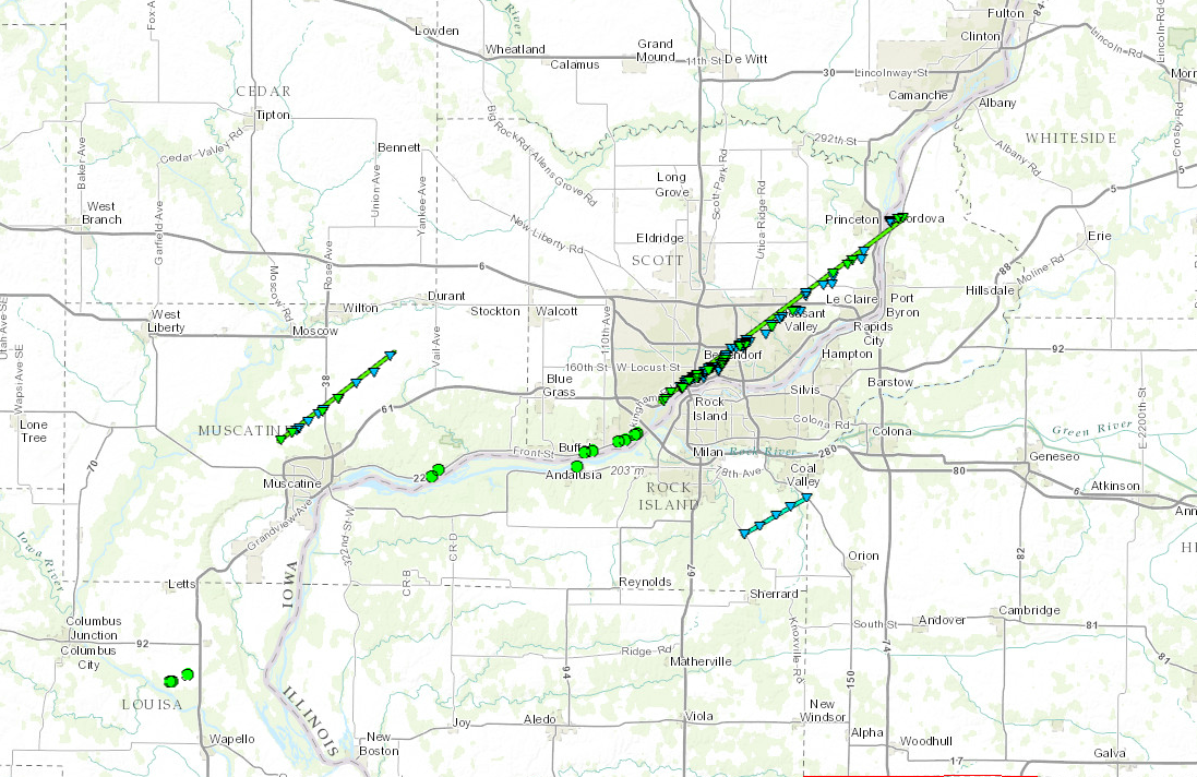 Tornadoes Hit the Quad Cities  Event Summary October 6 2016