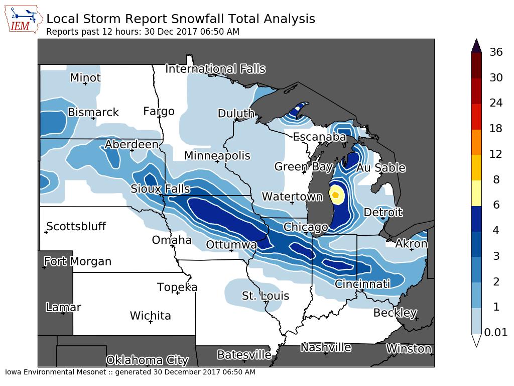 the first snowfall summary