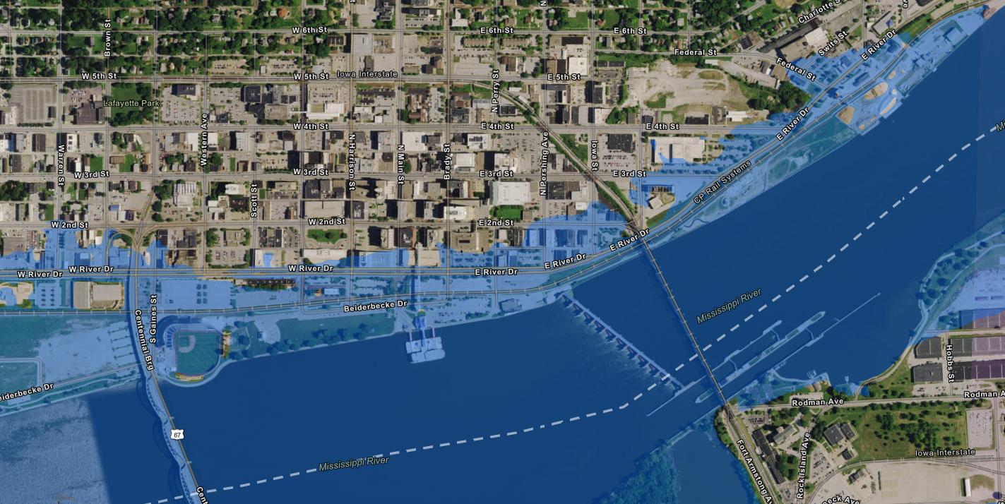 davenport iowa flooding 2020