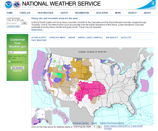 Us Weather Gov Map - Us weather gov map