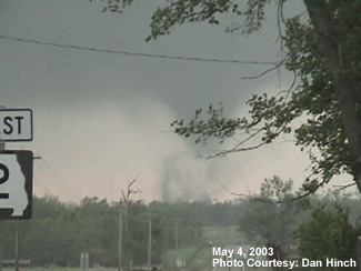 Tornado near intersection of Highway 2 and Highway 131 in Johnson County Missouri