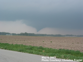 Tornado south of Basehor, KS