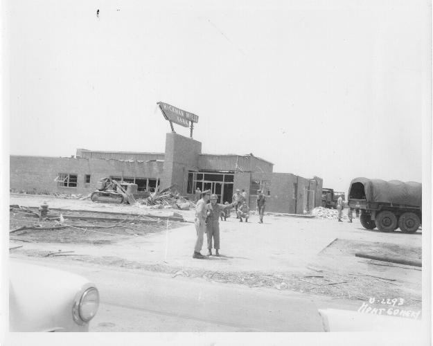 Damage to Hickman Mills State Bank