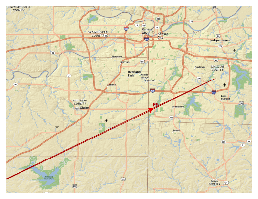 Damage Path of Tornado
