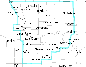 NWS Kansas City/Pleasant Hill, MO Forecast Area