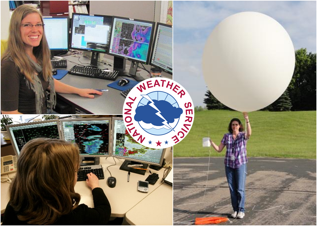 National Weather Service Women's History Month composition