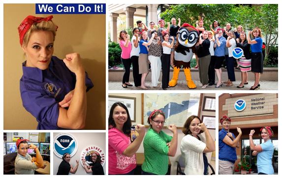 National Weather Service Women History Month composition