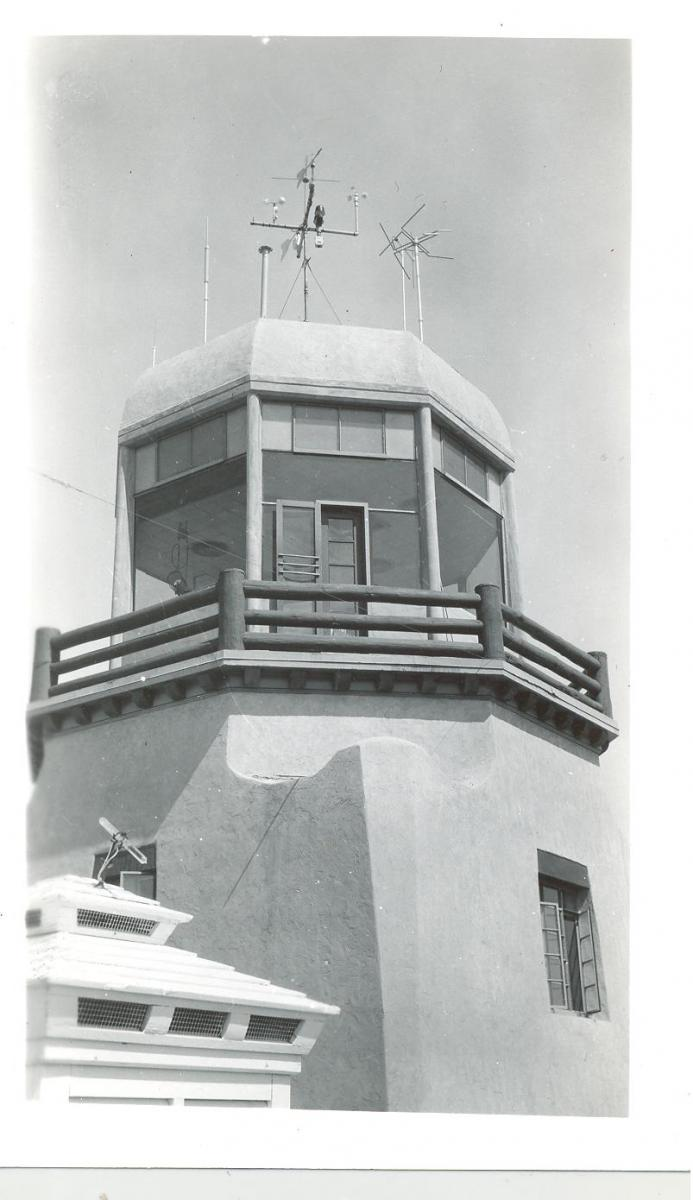 Wind Instruments on the El Paso Airport Tower in 1943