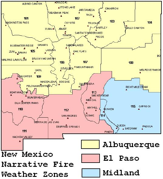 El Pasos Fire Weather Page