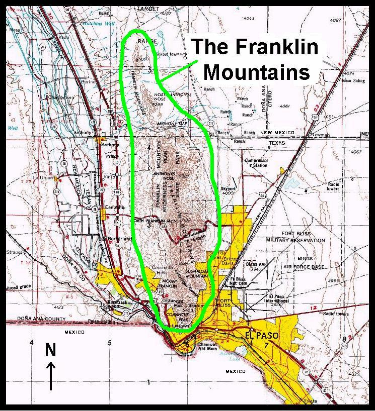 The Franklin Mountains And Locally Produced Terrain Forced