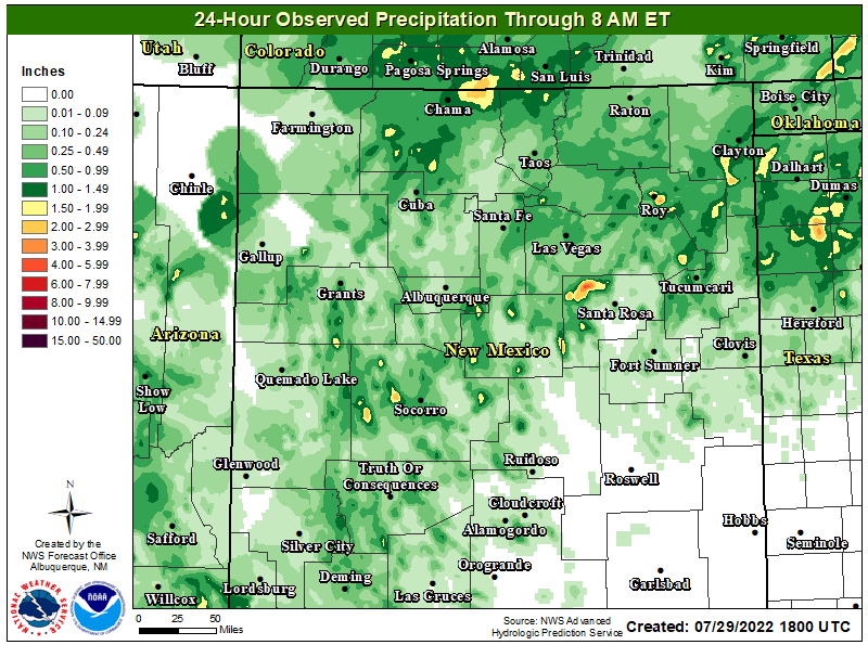 24-Hour Observed Precipitation.