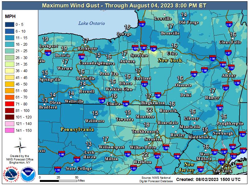 NDFD Wind Gust
