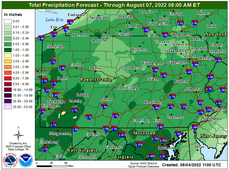 2 Day Precipitation Forecast